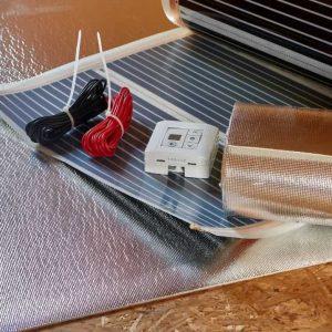 Установка теплого пола с электрообогревом
